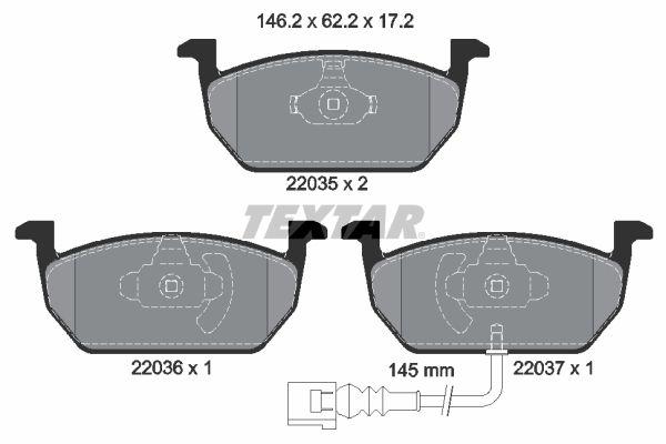 Bremsbelagsatz Scheibenbremse TEXTAR 2203501
