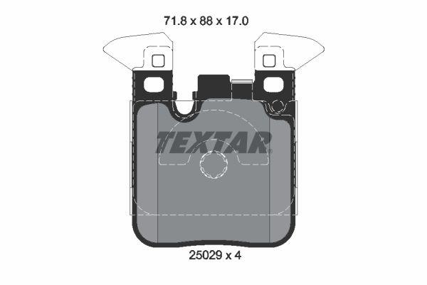 2502902 Bremssteine TEXTAR in Original Qualität