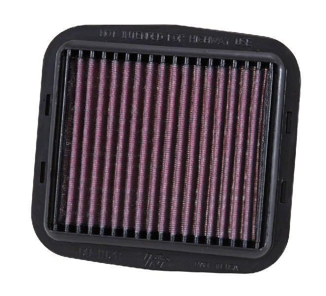 Moto K&N Filters filtr o podwyższonej trwałości Długość: 185[mm], Długość: 185[mm], Szerokość: 175[mm], Wys.: 25[mm] Filtr powietrza DU-1112R kupić niedrogo