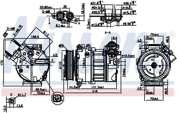 Klimakompressor NISSENS 890098