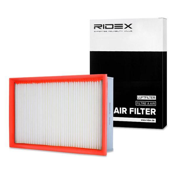8A0284 RIDEX Filtereinsatz Länge: 304mm, Länge: 304mm, Breite: 196mm, Höhe: 60mm Luftfilter 8A0284 günstig kaufen