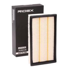 8A0292 RIDEX Filtereinsatz Länge: 298mm, Breite: 172mm, Höhe: 57mm Luftfilter 8A0292 günstig kaufen