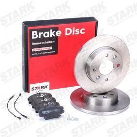 SKBK-1090094 STARK Bremsscheibenart: Voll, inkl. Verschleißwarnkontakt Bremsscheibendicke: 12mm Bremsensatz, Scheibenbremse SKBK-1090094 günstig kaufen