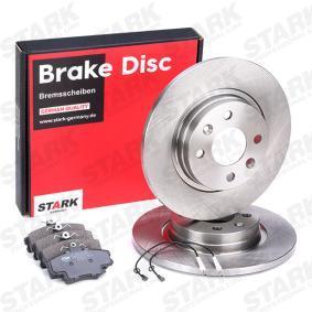 SKBK-1090124 STARK Vorderachse, Bremsscheibenart: Voll Bremsscheibendicke: 12mm Bremsensatz, Scheibenbremse SKBK-1090124 günstig kaufen