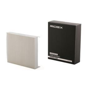 Filtr, wentylacja przestrzeni pasażerskiej RIDEX 424I0157 kupić i wymienić