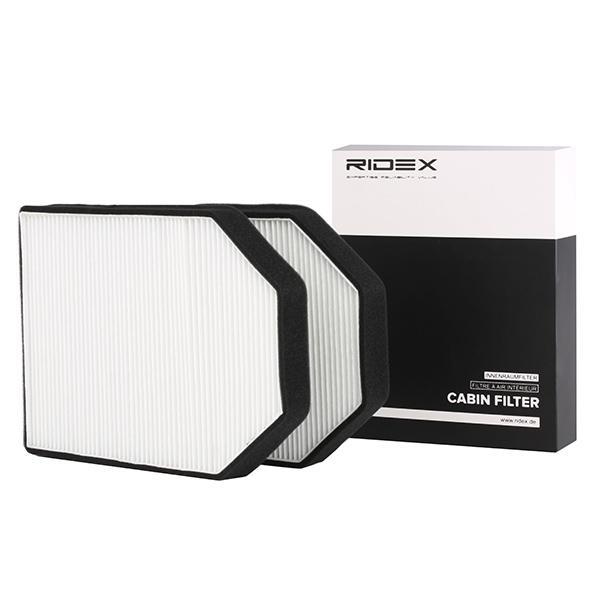 AUDI A8 2021 Pollenfilter - Original RIDEX 424I0155 Breite: 205mm, Höhe: 20mm, Länge: 280mm