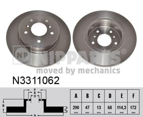 Bremsscheiben NIPPARTS N3311062