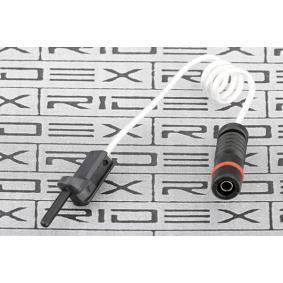 Koop en vervang Waarschuwingscontact, remvoering- / blokslijtage RIDEX 407W0016