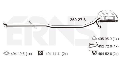 MINI Cabrio 2011 Endtopf - Original ERNST 250276