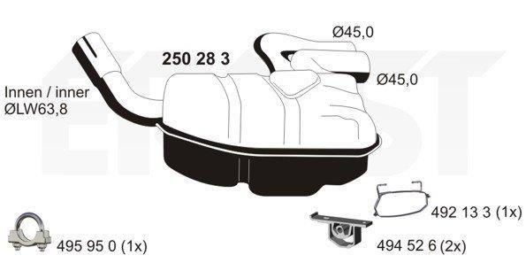 Original MINI Nachschalldämpfer 250283