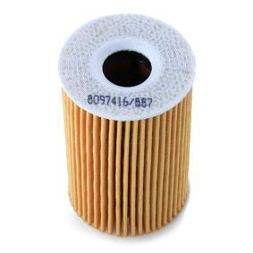 7O0009 Filtre à huile RIDEX - Produits de marque bon marché
