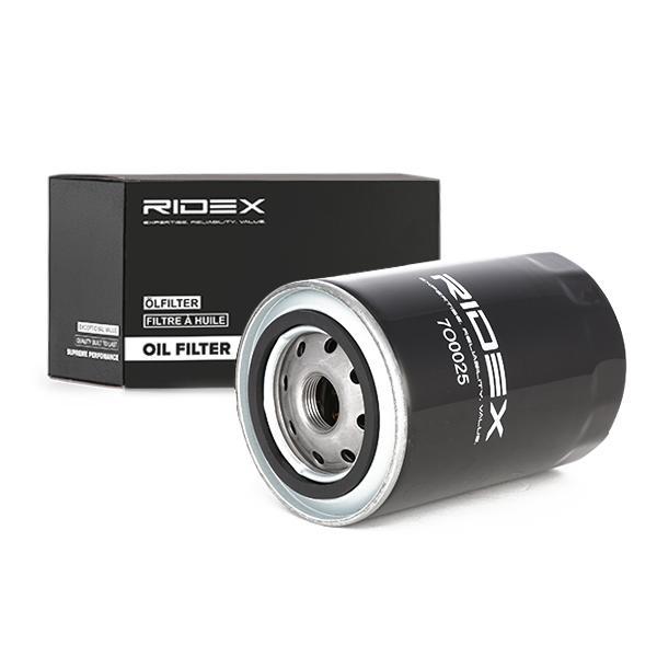 7O0025 RIDEX Anschraubfilter, mit einem Rücklaufsperrventil Innendurchmesser 2: 57mm, Innendurchmesser 2: 65mm, Ø: 80mm, Höhe: 75mm Ölfilter 7O0025 günstig kaufen