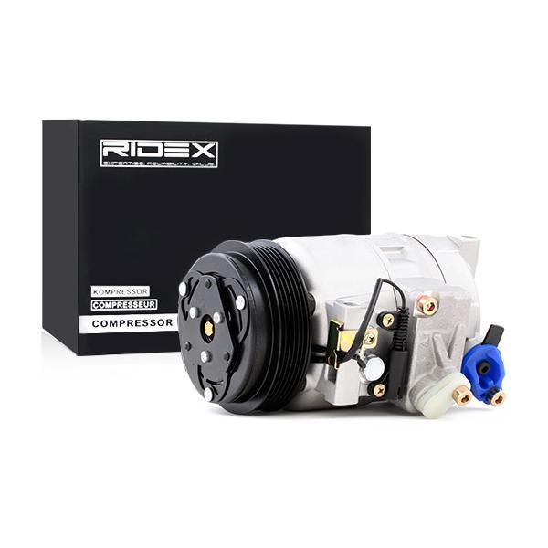 447K0087 RIDEX PAG 46, Kältemittel: R 134a Riemenscheiben-Ø: 119mm, Anzahl der Rillen: 6 Klimakompressor 447K0087 günstig kaufen