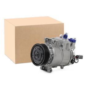 447K0079 RIDEX PAG 46, Kältemittel: R 134a Riemenscheiben-Ø: 100mm, Anzahl der Rillen: 6 Kompressor, Klimaanlage 447K0079 günstig kaufen