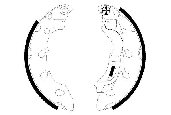 Original FIAT Bremsbacken für Trommelbremse 91079700