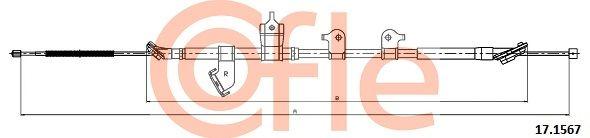 COFLE: Original Bremsseil 17.1567 (Länge: 1841/1625mm)
