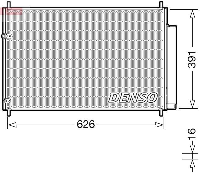 OE Original Klimakondensator DCN50041 DENSO