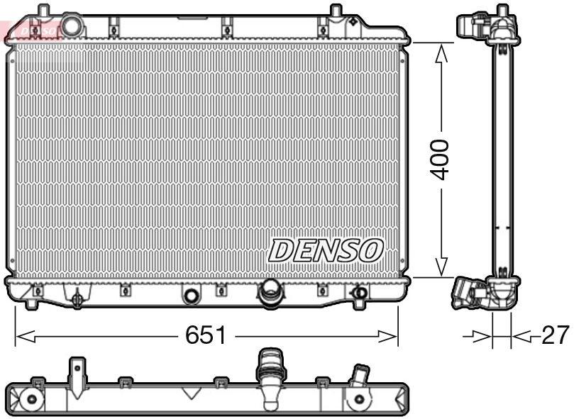 OE Original Autokühler DRM40036 DENSO