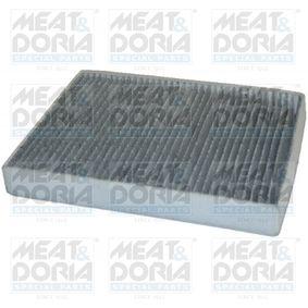 17300K MEAT & DORIA Aktivkohlefilter Breite: 218mm, Höhe: 30mm, Länge: 276mm Filter, Innenraumluft 17300K günstig kaufen