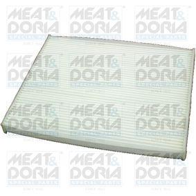 17415 MEAT & DORIA Pollenfilter Breite: 265mm, Höhe: 21mm, Länge: 218mm Filter, Innenraumluft 17415 günstig kaufen