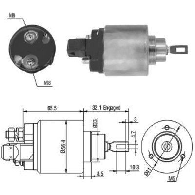 MEAT & DORIA: Original Magnetschalter Anlasser 46004 ()