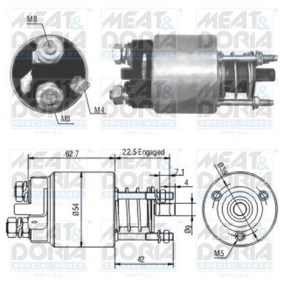 MEAT & DORIA: Original Magnetschalter Anlasser 46005 ()