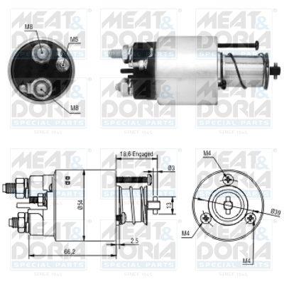 Original Starttimoottorin solenoidi 46054 Citroen