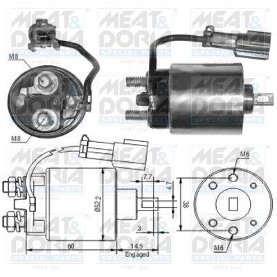 MEAT & DORIA: Original Magnetschalter Anlasser 46091 ()