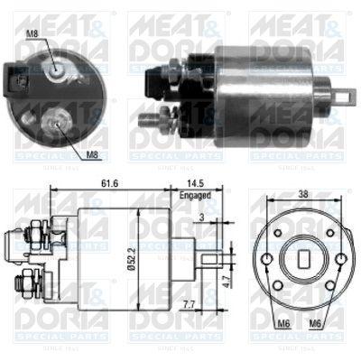 MEAT & DORIA: Original Magnetschalter Anlasser 46123 ()