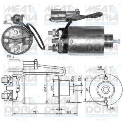 MEAT & DORIA: Original Magnetschalter Anlasser 46125 ()