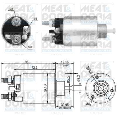 Buy Starter motor solenoid MEAT & DORIA 46133