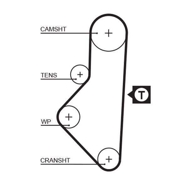 KP15050XS-1 Wasserpumpe und Zahnriemensatz GATES - Markenprodukte billig