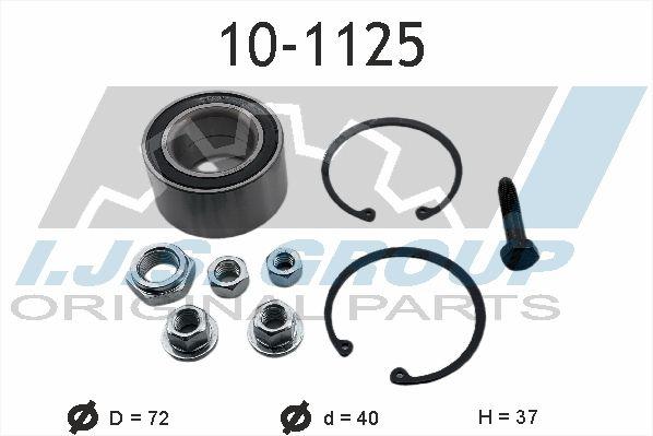 Köp IJS GROUP 10-1125 - Lagren till Volkswagen: Tvåsidig Ø: 72mm, Innerdiameter: 40mm