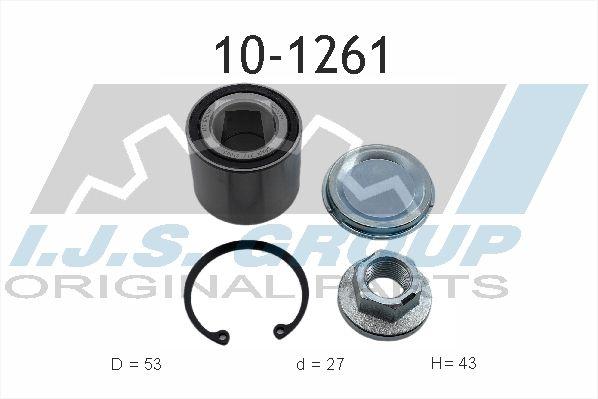 Купете 10-1261 IJS GROUP дясно, задна ос, ляво Ø: 53мм, вътрешен диаметър: 27мм Комплект колесен лагер 10-1261 евтино