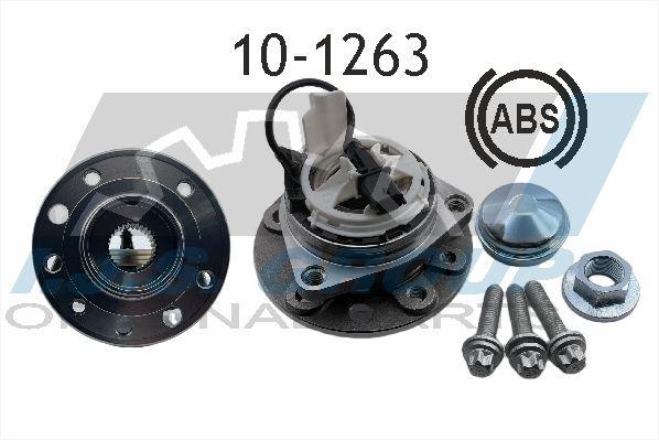 Купете 10-1263 IJS GROUP дясно, ляво, предна ос, с вграден сензор за ABS Ø: 137мм, вътрешен диаметър: 33мм Комплект колесен лагер 10-1263 евтино