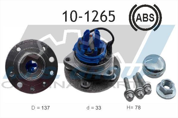 Купете 10-1265 IJS GROUP от двете страни на предната ос, с вграден сензор за ABS Ø: 137мм, вътрешен диаметър: 33мм Комплект колесен лагер 10-1265 евтино