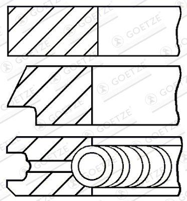 Original Комплект сегменти 08-436500-00 Фиат