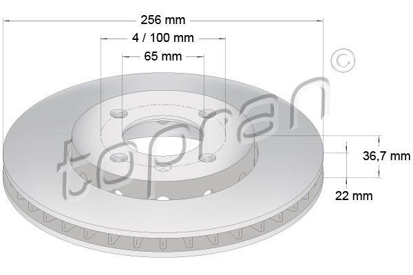 Volkswagen NEW BEETLE TOPRAN Disques de frein 115 930