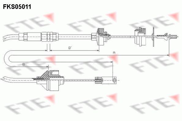 Kupplungsseilzug FTE FKS05011