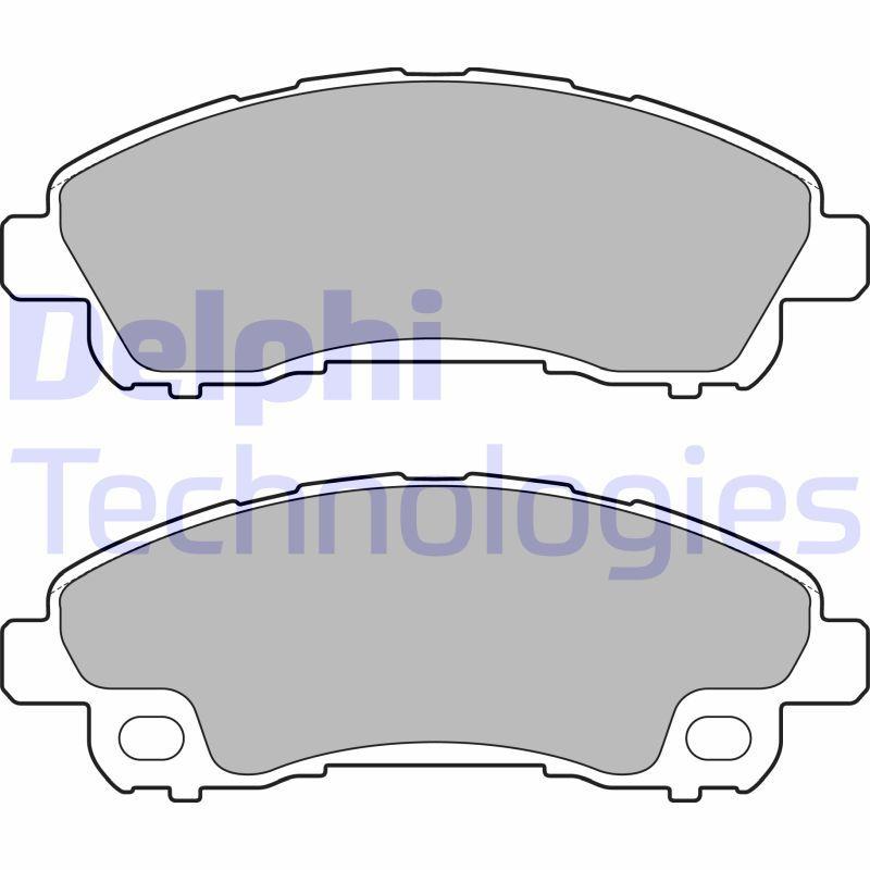 LP2716 DELPHI Bremsbelagsatz, Scheibenbremse für FUSO (MITSUBISHI) billiger kaufen