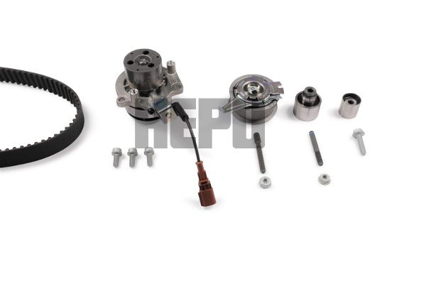 Volkswagen T-CROSS 2020 Belts, chains, rollers HEPU PK06690: switchable water pump, with screw set, Teeth Quant.: 145