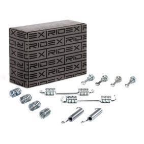 set accesorii, saboti frana parcare RIDEX 1337P0004 cumpărați și înlocuiți