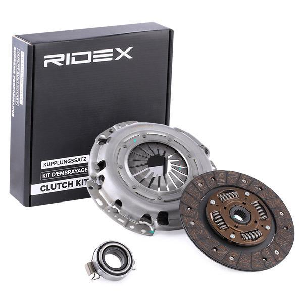 Köp RIDEX 479C0044 - Koppling / delar till Toyota: tredelad, med lamell, med utrampningslager Ø: 215mm