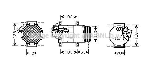 Original MERCEDES-BENZ Kompressor MSAK434