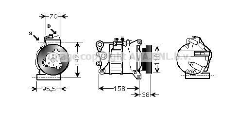 Original FORD Kompressor Klimaanlage VOAK143