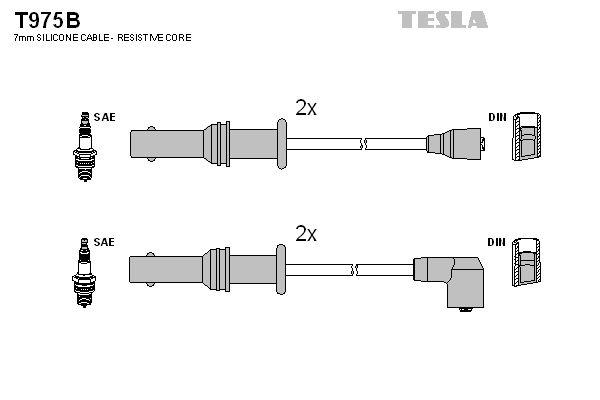 T975B TESLA Zündleitungssatz T975B günstig kaufen