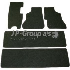 1101700810 JP GROUP Voor en achter, Zwart, Aantal: 5 Vloermatset 1101700810
