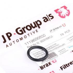Compre e substitua Junta, flange do líquido de refrigeração JP GROUP 1119606800
