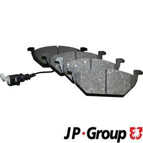 1J0698151DALT JP GROUP Eje delantero, con sensor de desgaste incorporado Espesor: 19,7mm Juego de pastillas de freno 1163601010 a buen precio