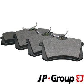 1163707919 JP GROUP Hinterachse, nicht für Verschleißwarnanzeiger vorbereitet Dicke/Stärke: 15,2mm Bremsbelagsatz, Scheibenbremse 1163705310 günstig kaufen